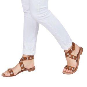 Halogen Elsie Brown Suede Wrap Sandals